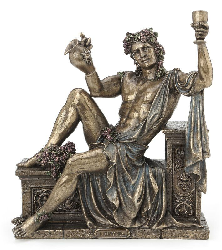 Darcia Dionysus Greek God Of Wine Figurine Greek Gods Dionysus God Greek Mythology Statue