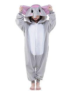 Kigurumi+Pijamas+nueva+Cosplay®+Elefante+Leotardo/Pijama+Mono+Festival/Celebración+Ropa+de+Noche+de+los+Animales+Halloween+Gris+Un+Color+–+USD+$+40.99