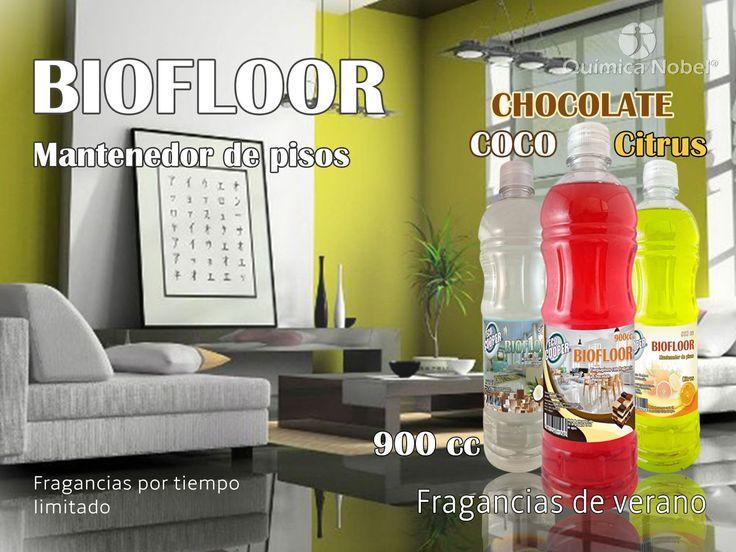 Las fragancias de verano están disponibles, con 3 nuevas opciones, Chocolate, Coco y citrus. BIOFLOOR de ECO COOPER es un mantenedor de pisos que esta formulado para la limpieza de superficies, absorbe y limpia el sucio eficazmente dejando un aroma agradable.