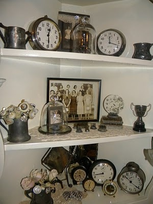 Collection of clocks by Cheryl's Cottage Home #clock