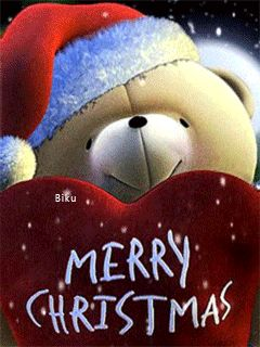 Download Animated 240x320 «Merry Christmas» Cell Phone Wallpaper. Category: Holidays