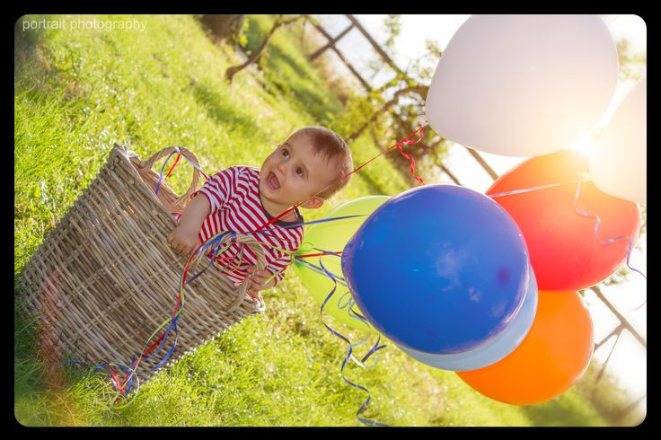 A sunny day in the park #baby #ballons #basket #sunnyday #babyphotoshooting