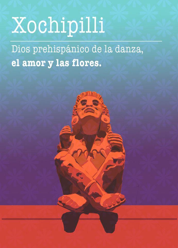 En la época prehispánica existió una devoción por la flores, muestra de ello era la deidad Xochipilli: Dios de la danza, el amor y las flores.