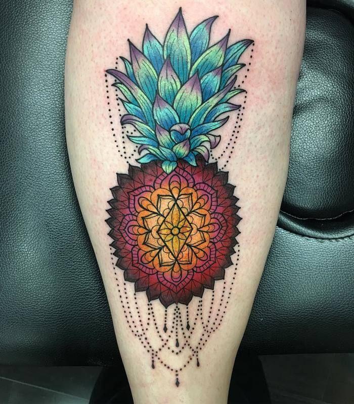 Colored+Mandala+Pineapple+Tattoo+by+christina0727