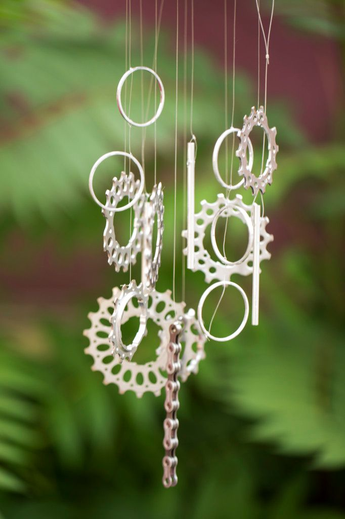 diy upcycled bike parts wind chime