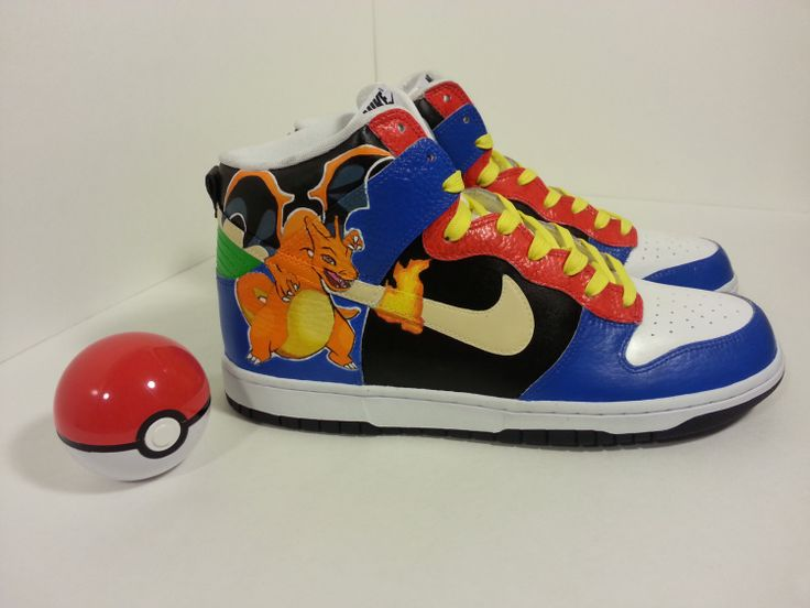 Pokemon+Nike+Dunks+by+ProjektKreations+on+Etsy,+$150.00