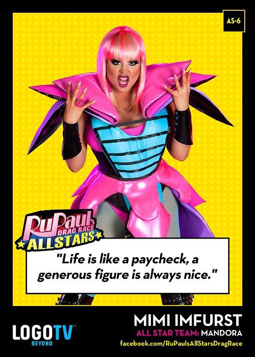 It's RuPaul's Drag Race TRADING CARD THURSDAY #AS-6: Mimi Imfurst!