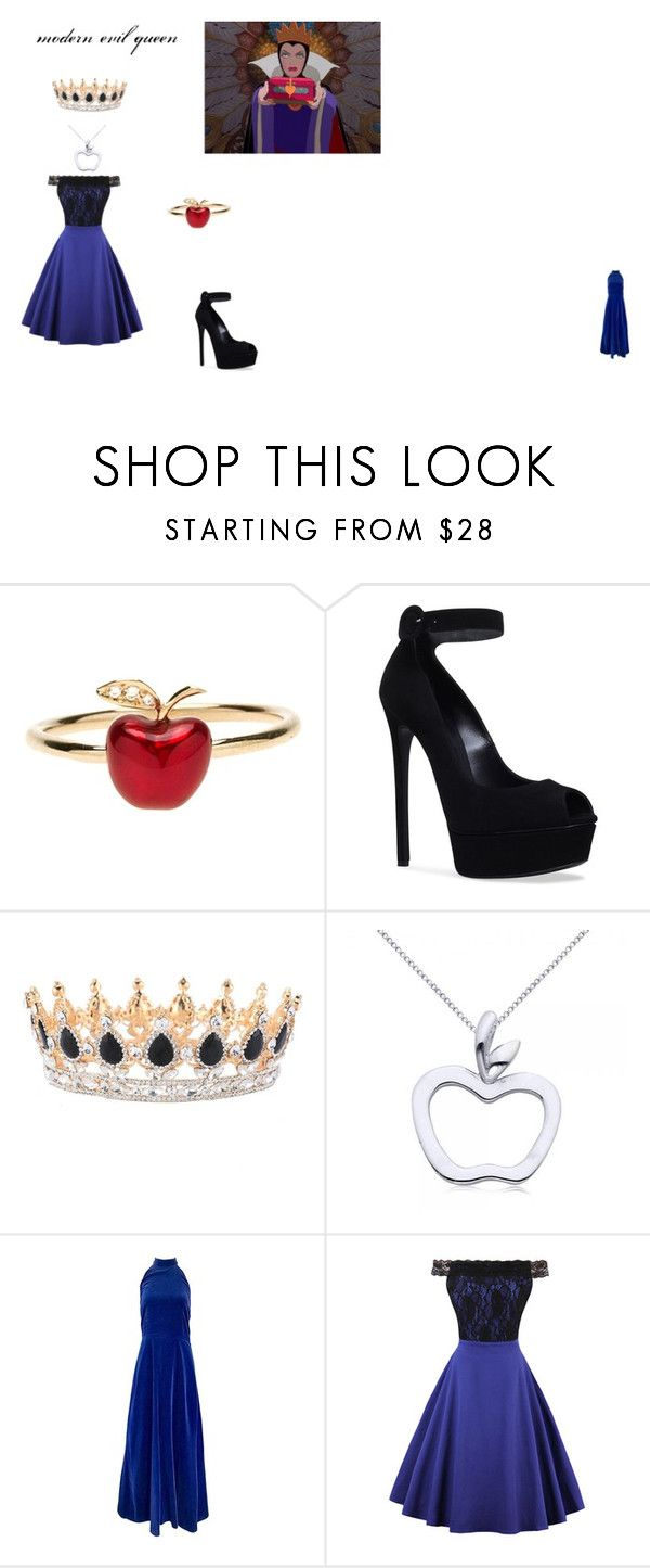 modern evil queen by zuzia-apanasewicz on Polyvore featuring uroda, Allurez, Alison Lou, Yves Saint Laurent, WithChic, Casadei, 1937 and modern