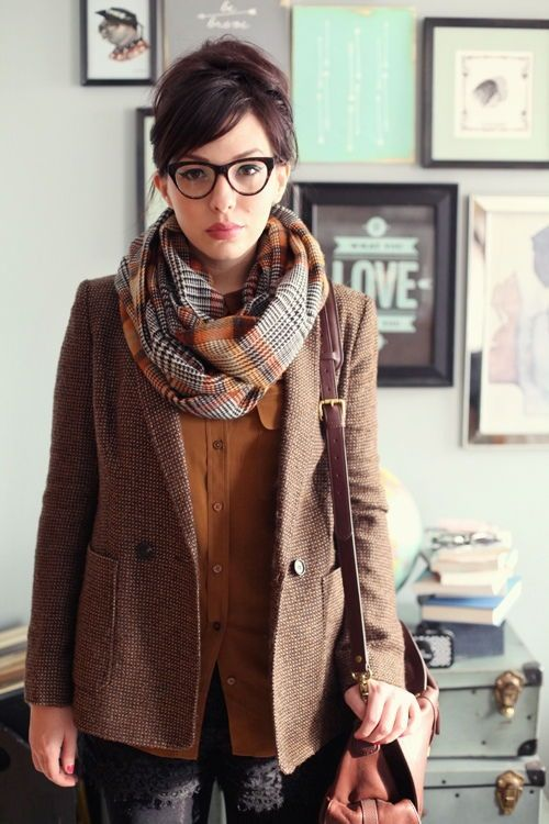 Awesome fall/winter business casual outfit - cool!