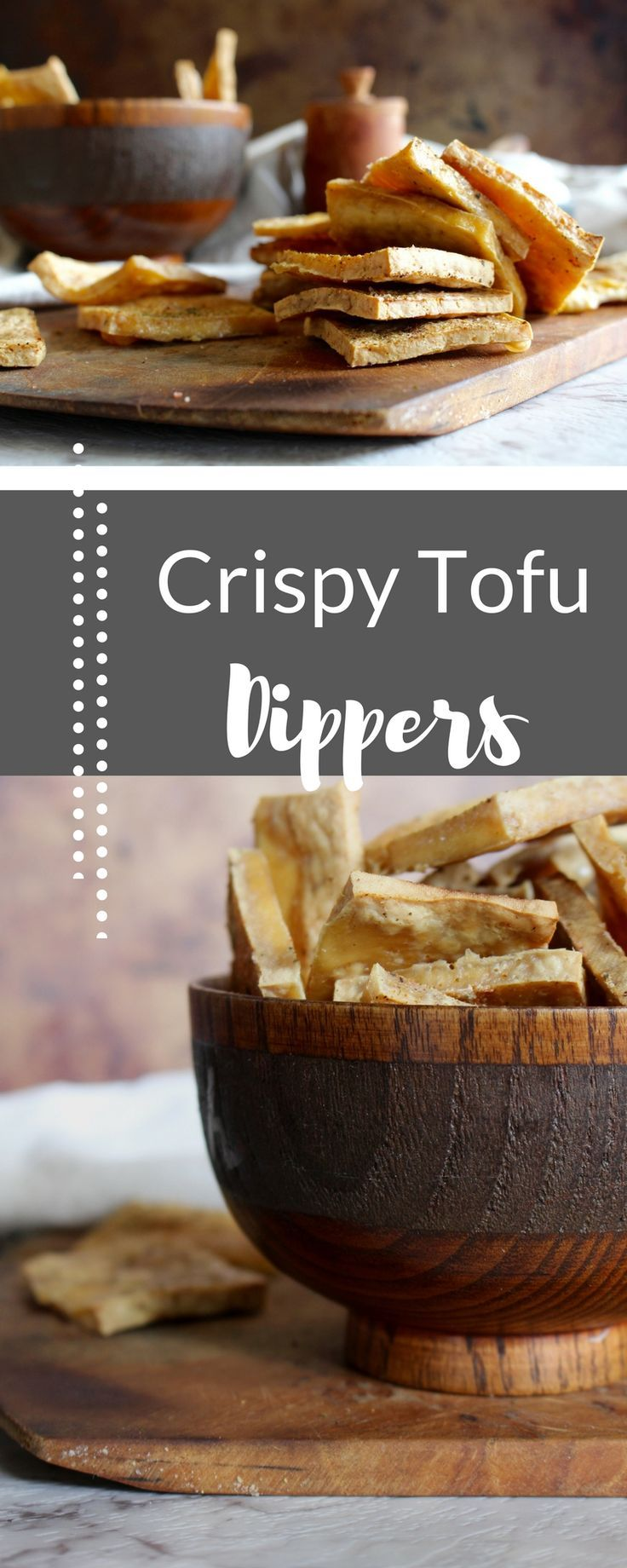 | crispy tofu | easy dinner | vegan protein | Once you have this crispy tofu, you'll never want it any other way, and all your bad tofu experiences will be forgotten. The recipe is super easy, with only 4 ingredients and pop it in the oven!