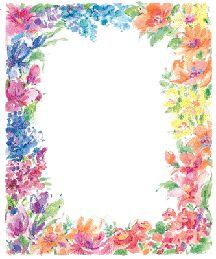 Border Design Paper | BORDERS and Frames | Pinterest | Flower Borders ...