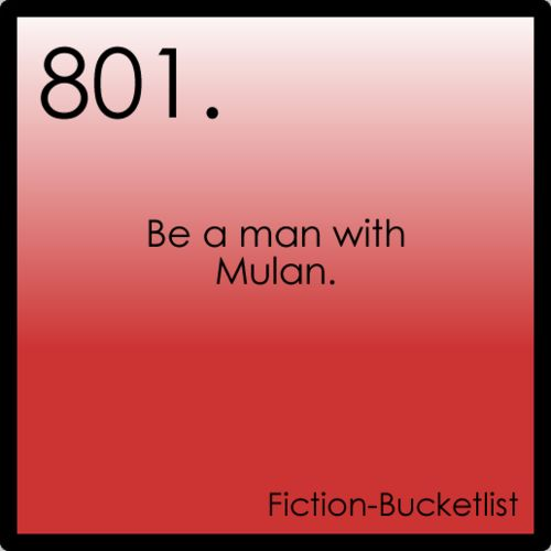 Mulan: Fictionalbucketlist