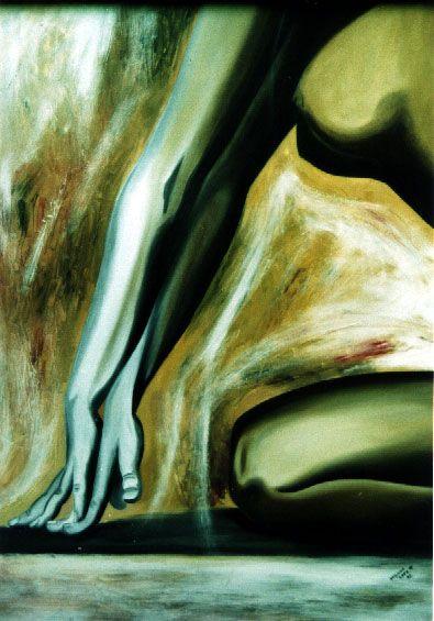 Fragmento de desnudo Oleo sobre tela Susana Soto Poblette