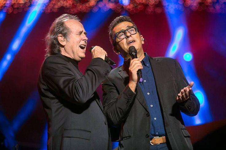 Serrat y Buenafuente en plena actuación.