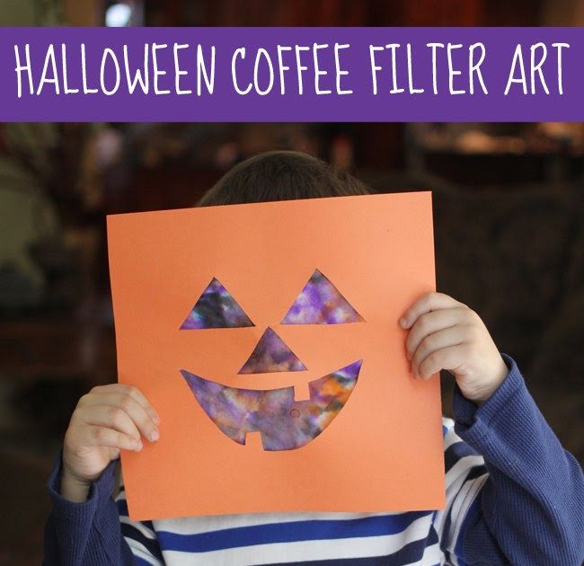 Here's an original Jack-O-Lantern craft idea. Use a pumpkin face template and colored coffee filters for the eyes and mouth. Follow the l...