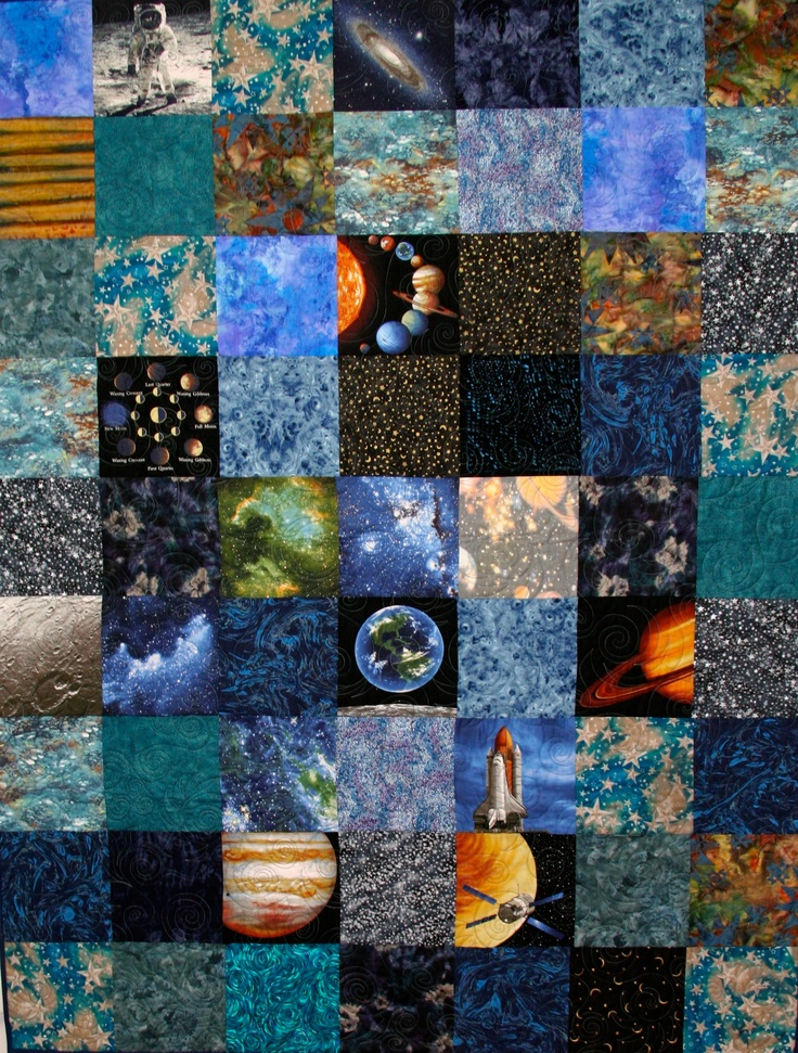 25 best images about space quilts on pinterest horns for Spaceship quilt