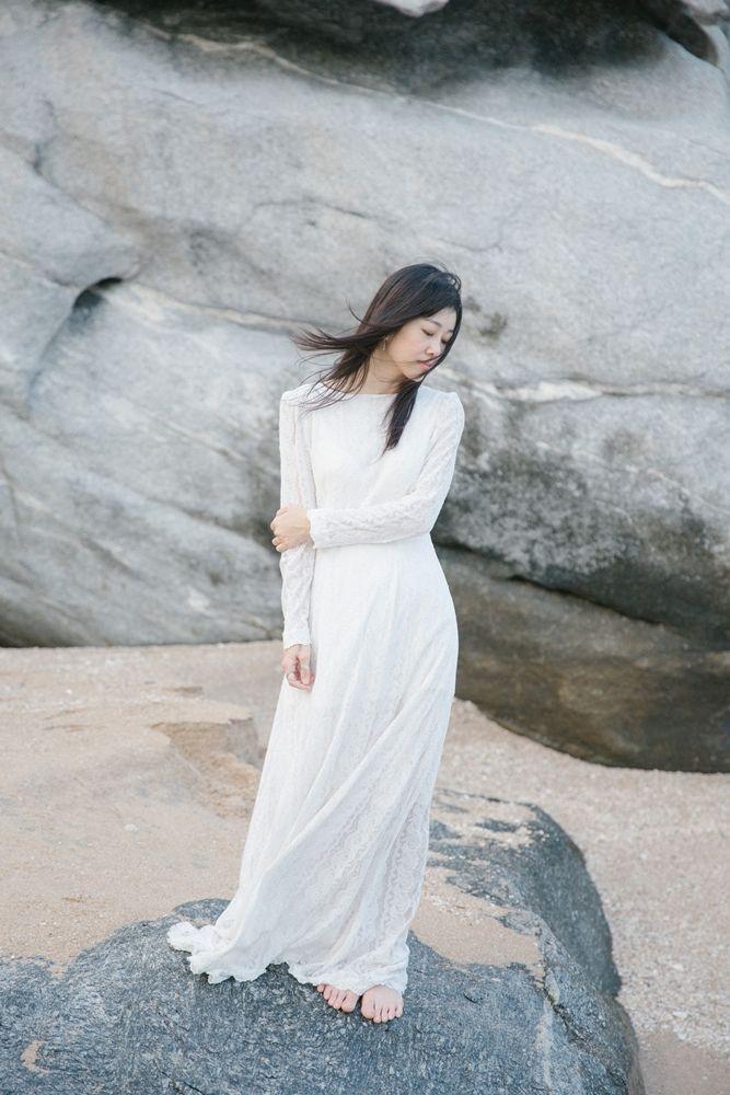 ชุดเจ้าสาว วินเทจ ผ้าลูกไม้ นำเข้า ยุค 1950,1960,1970's ใน คอนเซปต์ หิน & สายลม
