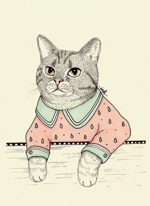 cat illustration tumblr - Buscar con Google