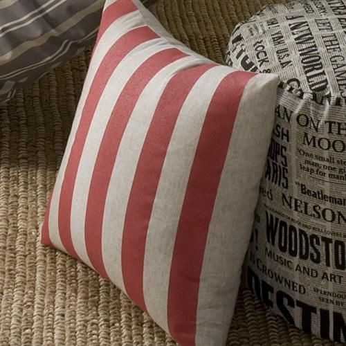 Bold printed stripes on textured fabric | Zipped