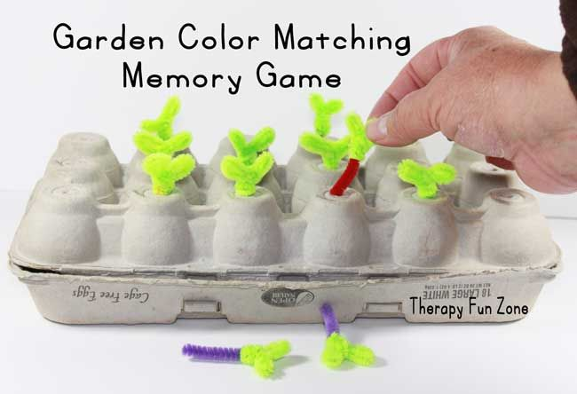 garden color matching memory game: Therapy Fun Zone. It would be PERFECT for preschool science lab unit on gardening.