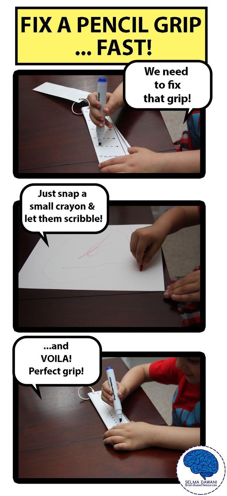 Fix a premature pencil grip - QUICK AND EASY!