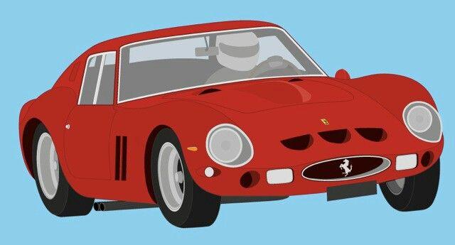 Vector Art Ferrari 250 GTO   By Yuri Koole