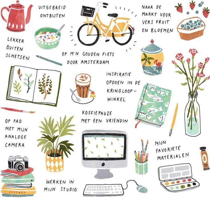 Illustrator Sanny van Loon drawing her day