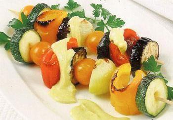 Рецепт-Диетический шашлык из овощей в духовке или на гриле | Диетическая еда