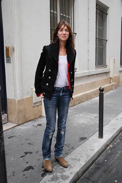 Charlotte Gainsbourg is an inspiration. Not a fan of the boots style for myself. Awesome on her though :/