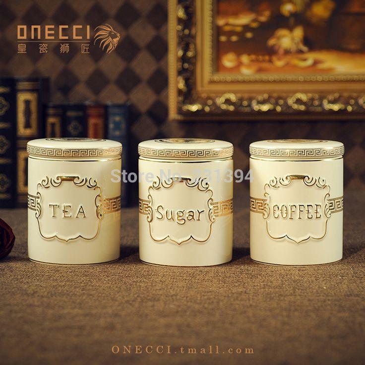 Мода керамические запечатанные банки поставки резервуар для хранения сахар сухофрукты банку чайница банки кофе комплект(China (Mainland))