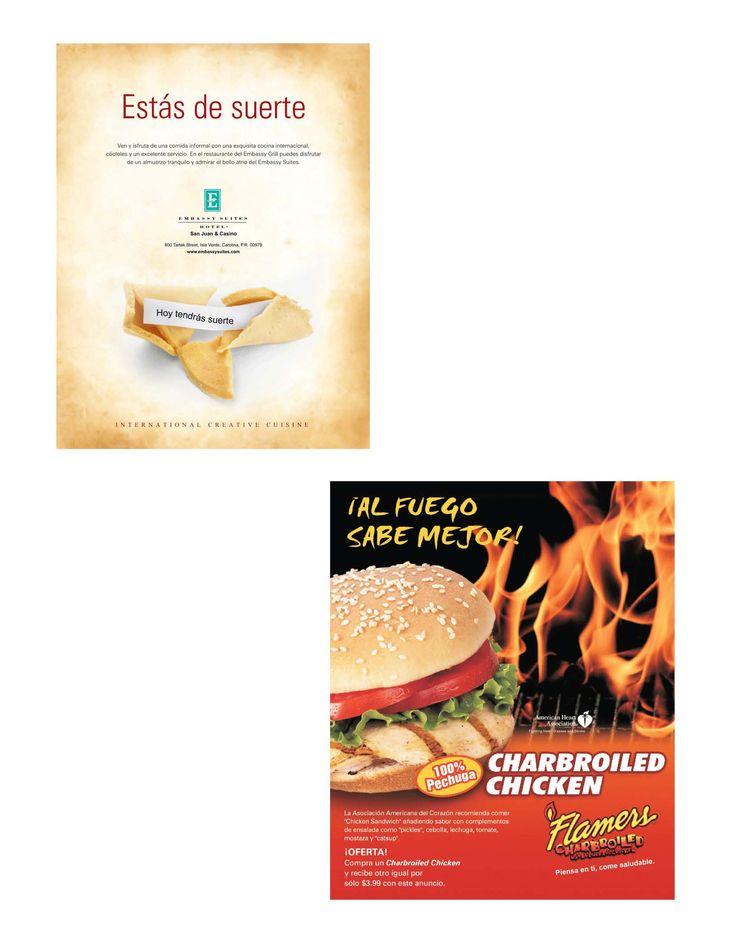 Diseño de anuncios de revista.