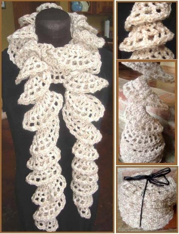 Spirally Scarf by Lisa Gentry   Crocheting Pattern
