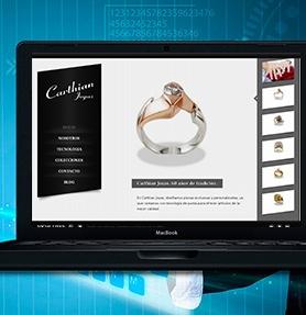 Diseño web de Joyeria Carthian en Bogota, Colombia. Se especializan en joyas de compromiso, argollas de matrimonio y joyas militares.