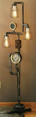 "Plumbing Steam Gauge Floor Lamp ""The Tucker"" - SOLD"