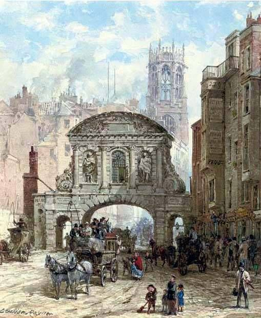 London - Temple Bar was the last surviving City gateway, having replaced a wooden gate that had separated the City of London from Westminster. The gate had burned down in the Great Fire of London (1666) and this Portland stone portal went up in 1669-72.