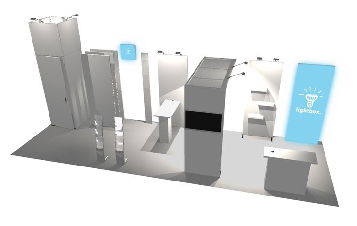 Trade show modular system parts