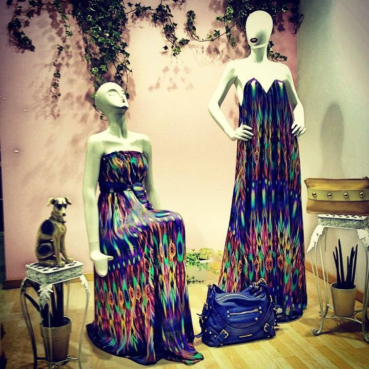 Maxi peacock dress