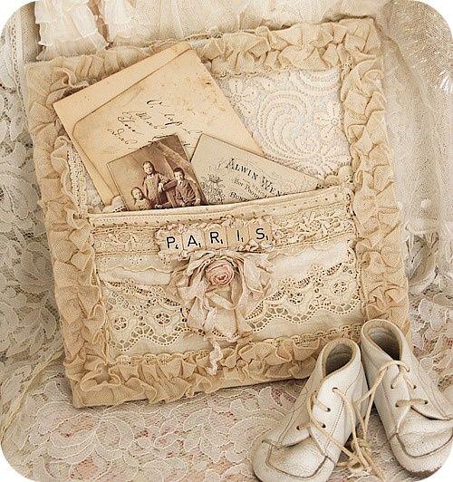 linen and lace len i kronka keepsake journal vintage shabby chic