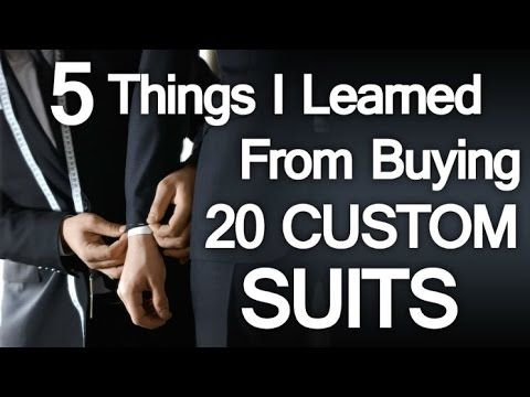 5 Lessons Learned Buying 20 Custom Suits In 10 Days - Bespoke Clothing Mistakes To Avoid (via @antoniocenteno)