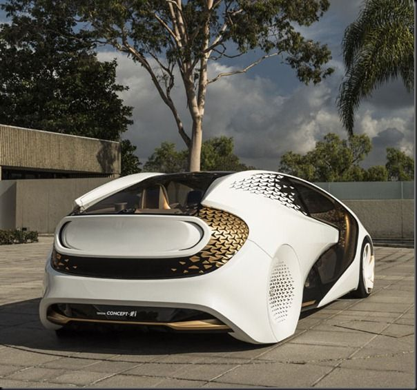 Future technology Futuristic Concept Car by Toyota's with artificial intelligence