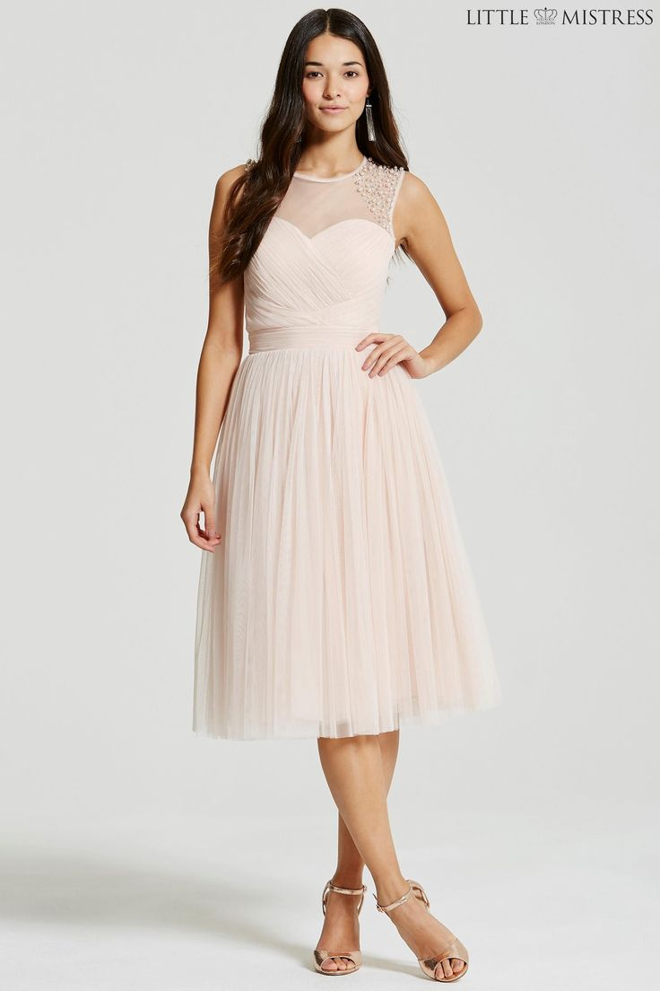 Next online party dresses - Buy Little Mistress Embellished Sheer Midi Dress From The Next Uk Online Shop