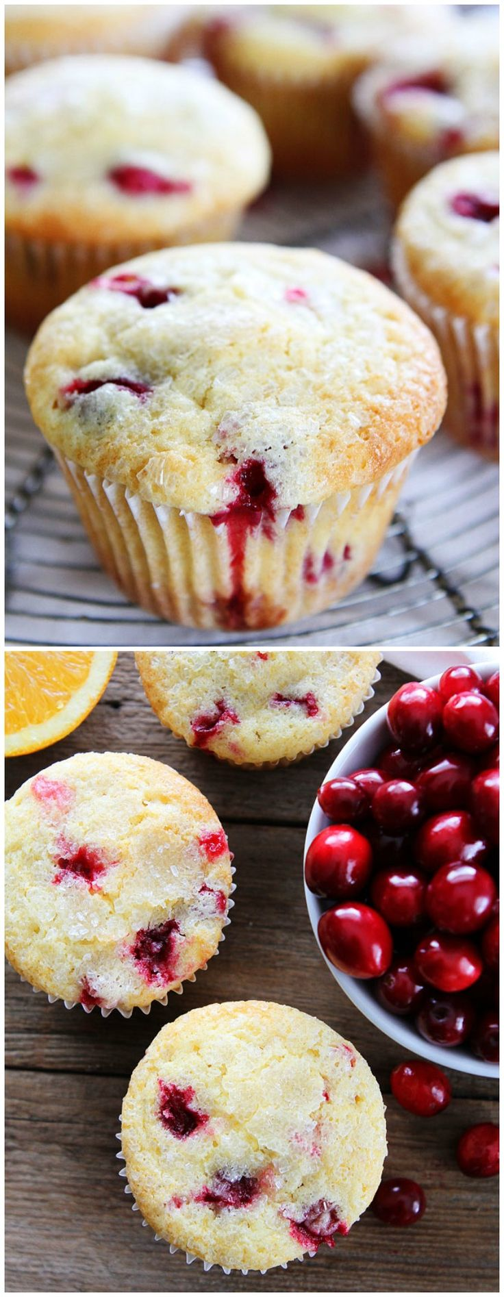 Cranberry Orange Muffin Recipe on twopeasandtheirpod.com These are the BEST muffins and perfect for the holiday season!