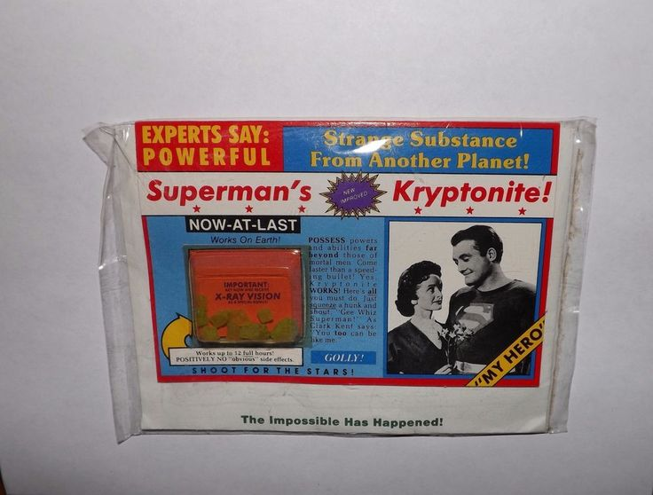 Vintage 'New And Improved' Superman's Kryptonite! Unopened w/HEART THROBS Card