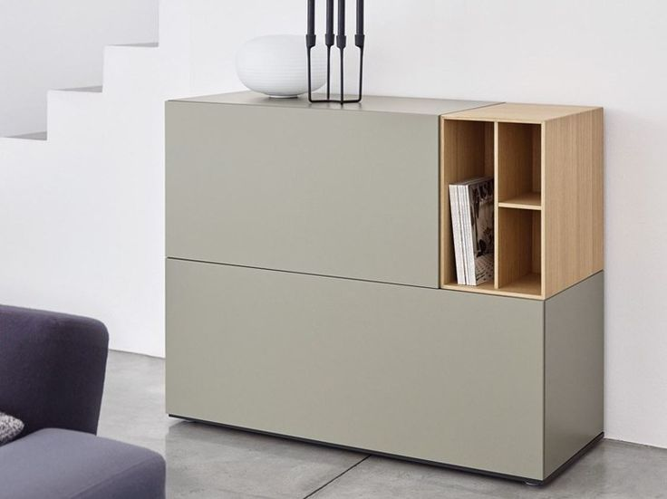 Modular lacquered wooden sideboard BRICK | Lacquered sideboard - Caccaro