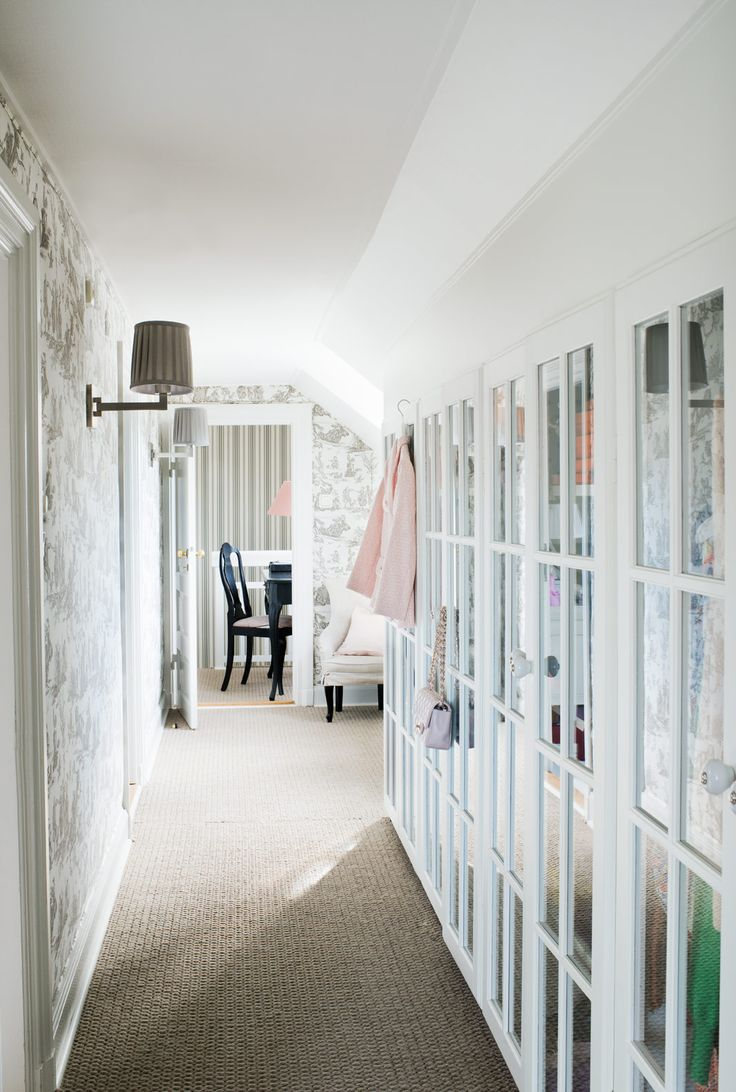 Dressing Room and Hall Closet with Glass - Front Doors - via Skonahem