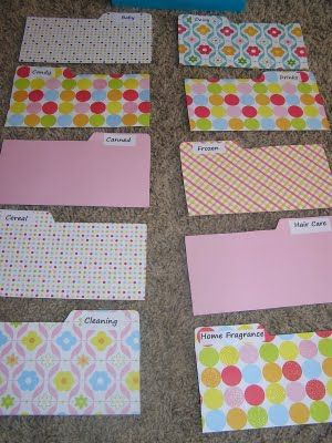 Couponing envelope organizing ideas