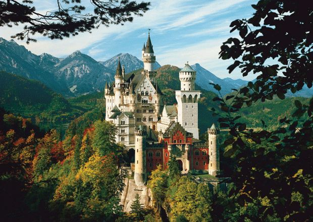 I want to visit the Neuschwanstein Castle in Germany.  in addition to millions more! But this one is number 1!