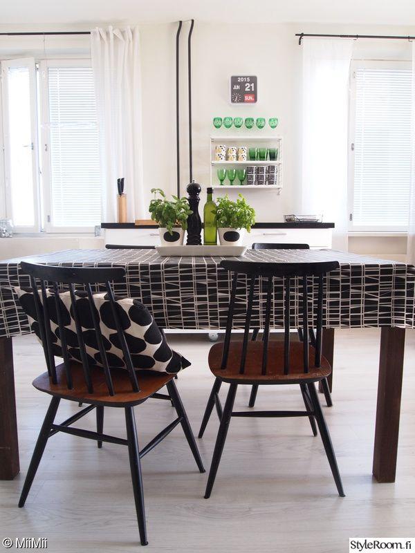 keittiö,marimekko,vintage,pinnatuoli,laminaatti