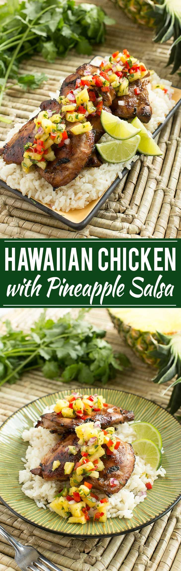 This recipe for Hawaiian grilled chicken is chicken thighs that are flavored with a coconut marinade, grilled to perfection & topped with…