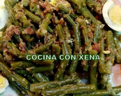 Cocina con xena jud as verdes al vapor con jam n y for Cocina con xena olla gm d